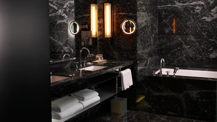 Black Marble Bathroom Creative Endearing Design Decoration