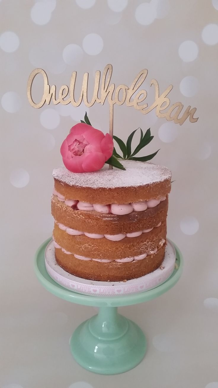 First Anniversary Cake One Whole Year Naked Cake With