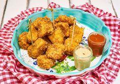 Comé más sano: pollo rebozado con cereales – Alimentación Temprana