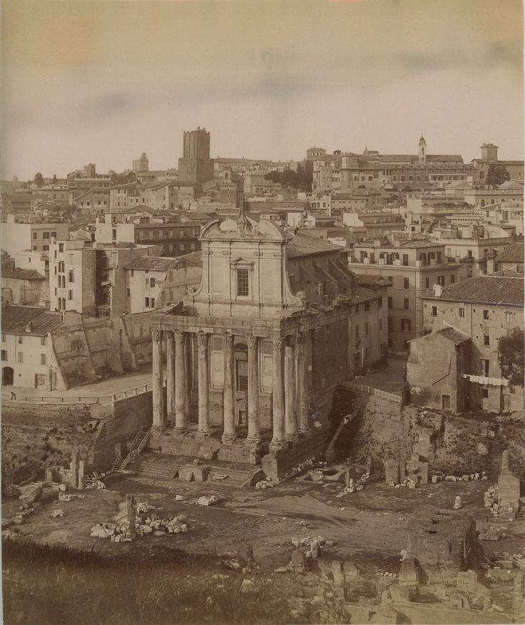 Tempio di Antonino e Faustina 1880