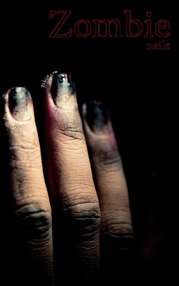 tuto zombie nails!!