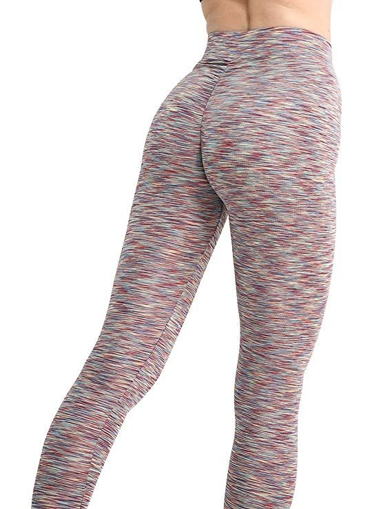 f674802ee37051 Amazon.com: CHRLEISURE Workout Leggings for Women - High Waisted Leggings  with Scrunch Butt