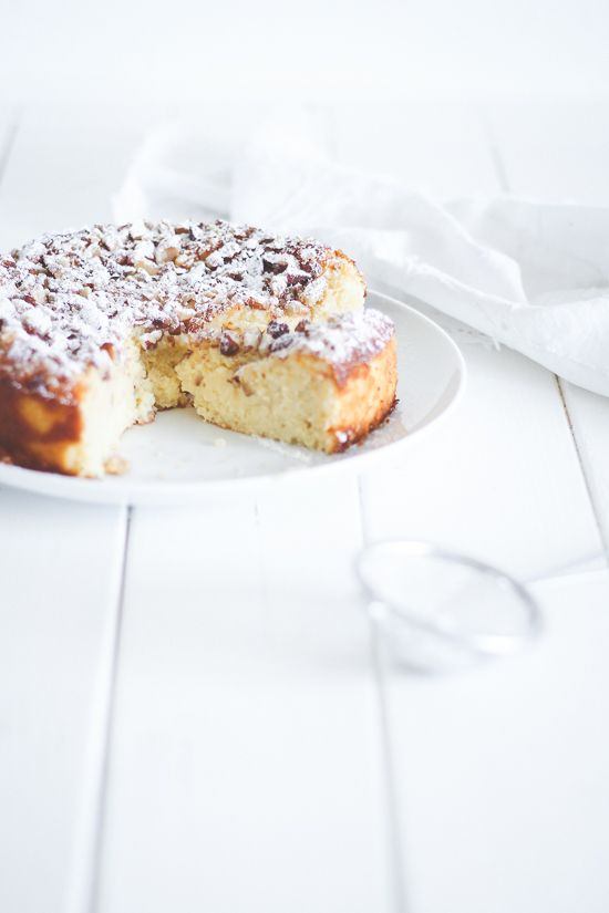 ricotta cake with lemon & almonds
