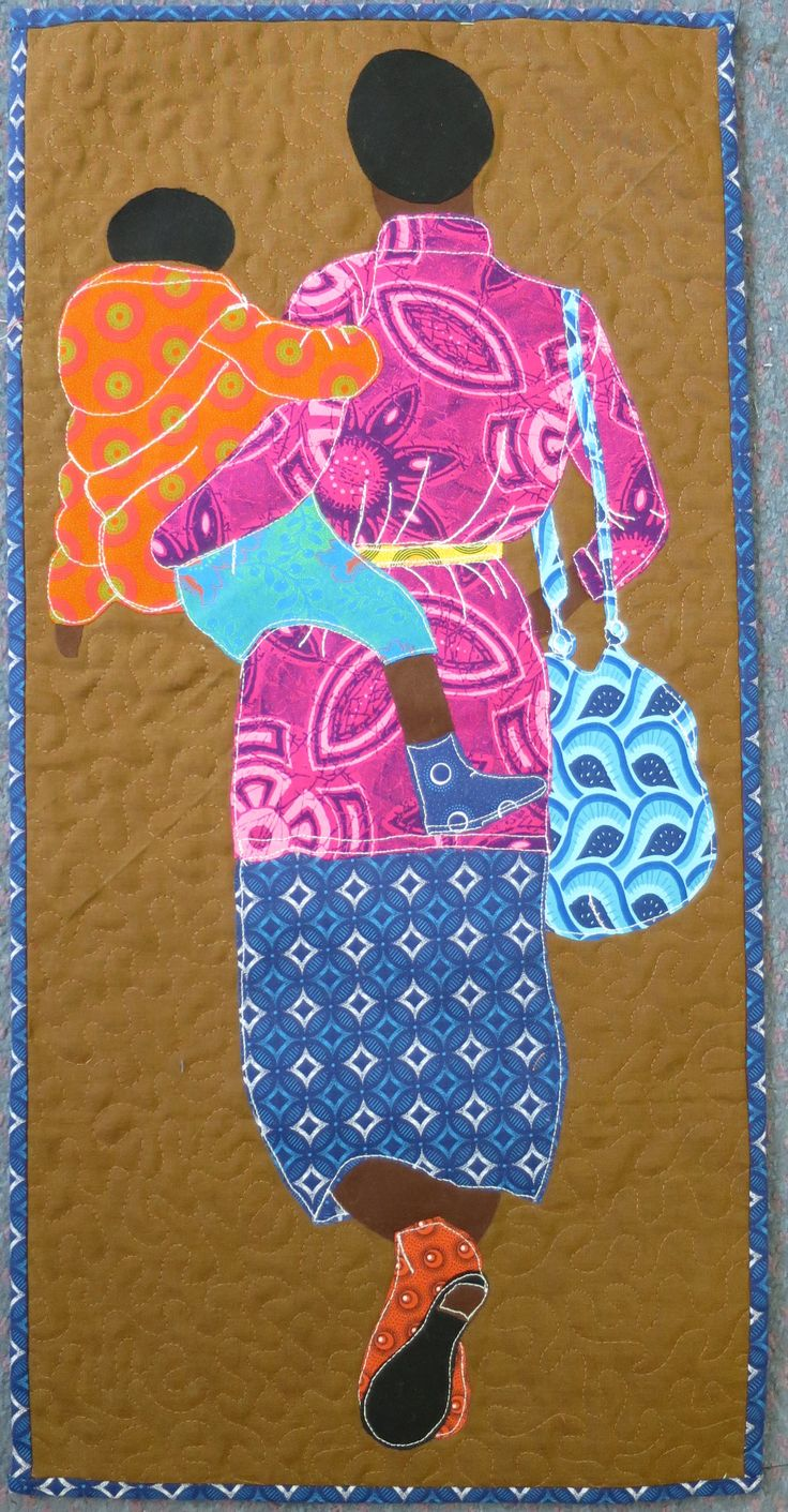 One of Gillian Travis' South African women series quilts