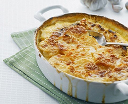 Parmesan Scalloped Potatoes, made with Philadelphia cooking creme.