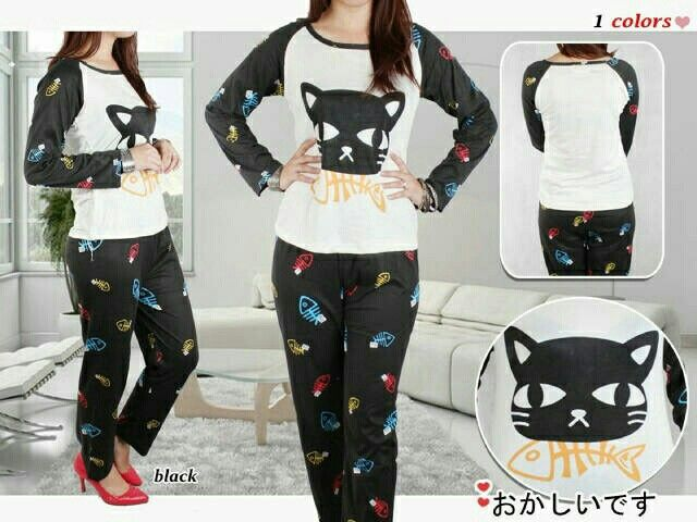 St. Black Cat 63.000 Bahan spandek adem fit to L
