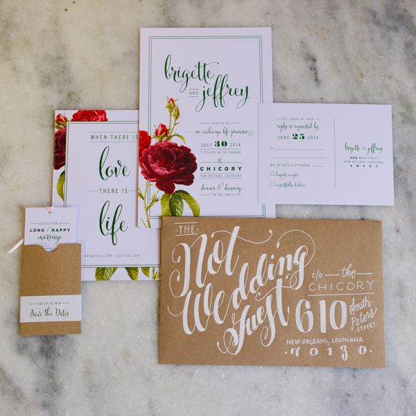 beautiful envelope calligraphy, photo by GK Photography http://ruffledblog.com/notwedding-new-orleans #weddinginvitations #stationery