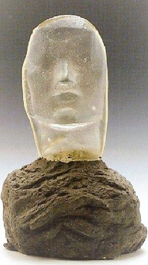 Henri Edouard Navarre (French, 1885–1971) Title:     Tête de femme  Medium:     Glass Size:     39 cm. (15.4 in.)