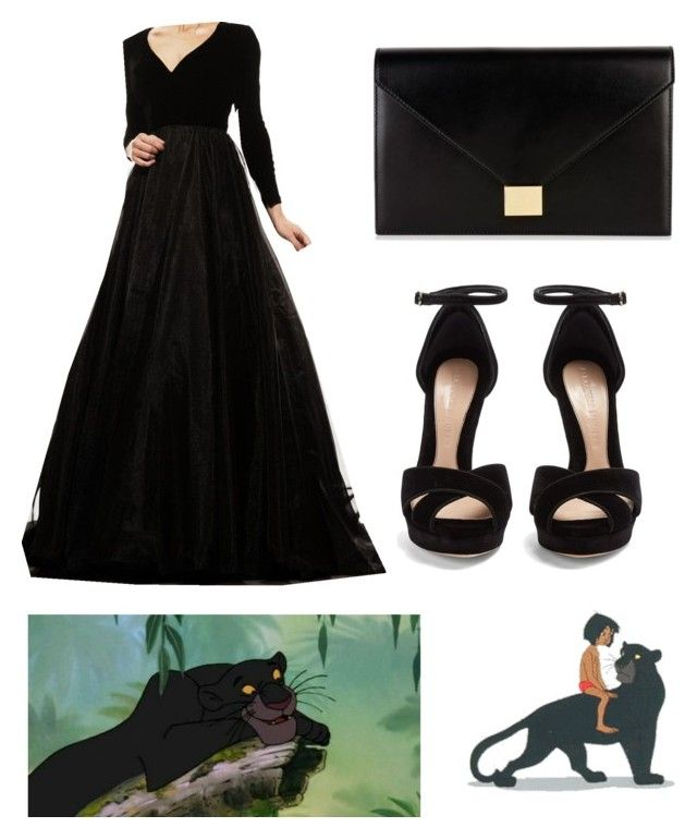 """Jungle Book: Bagheera"" by banana01 ❤ liked on Polyvore featuring Bagheera, Alexander McQueen, Johnathan Kayne and Victoria Beckham"