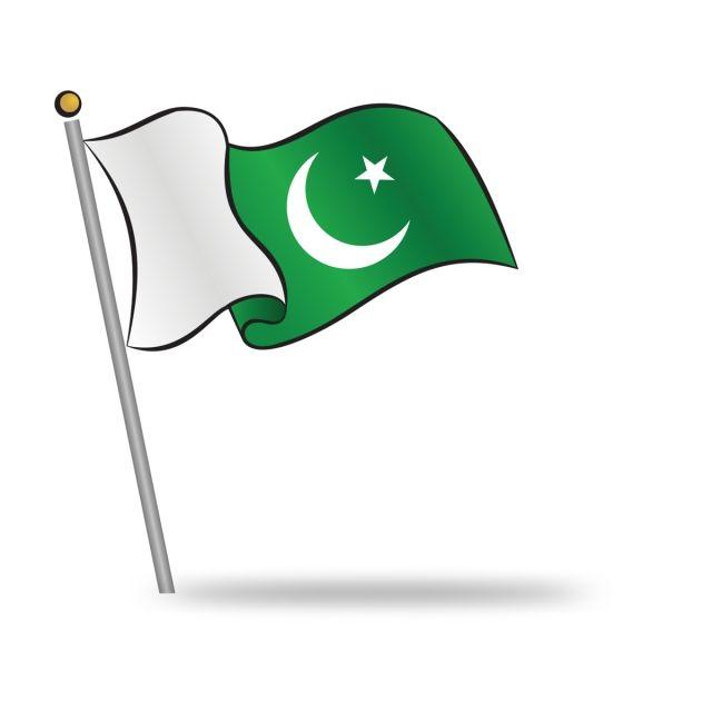 Pakistani Flag Waving On The Wind