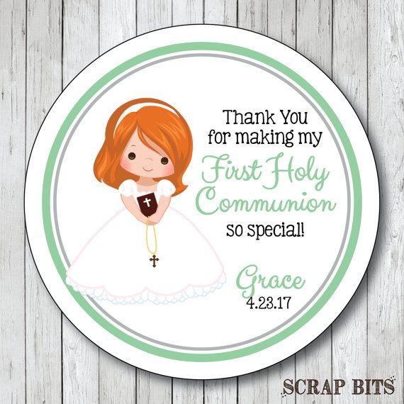 First Communion Stickers . Personalized First Holy Communion