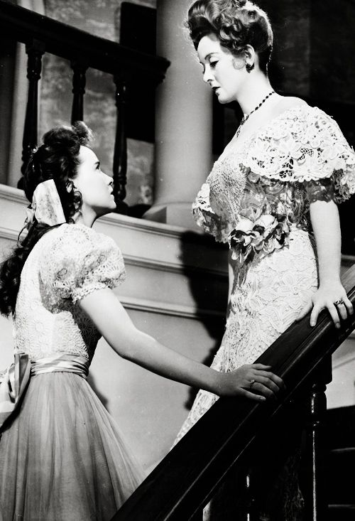 "Teresa Wright & Bette Davis in The Little Foxes dir. by William Wyler (1941) - ""Why, Mama? Are you afraid?"""
