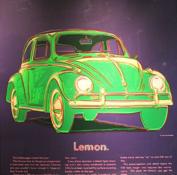Ads: Volkswagen  II.358 1985 by Andy Warhol - Limited Edition Print | Screenprint on Lenox Museum Board | 38 x 38 inches | 97 x 97 cm
