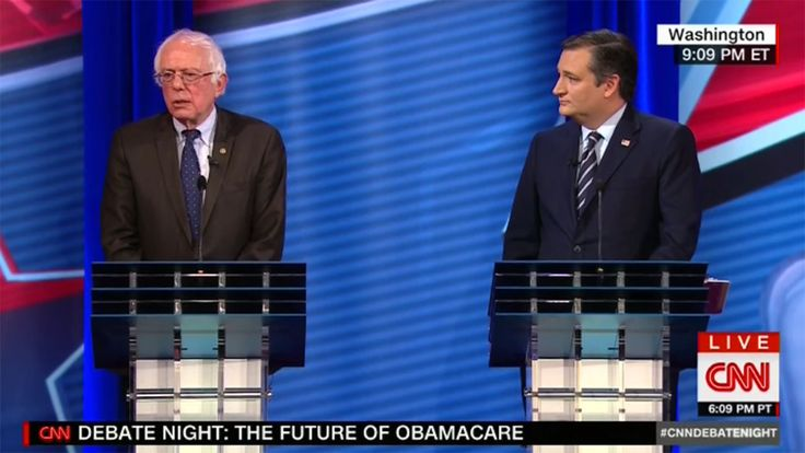 Critic's Notebook: Cruz and Sanders Have Shockingly Grown-Up CNN Debate About Obamacare #FansnStars