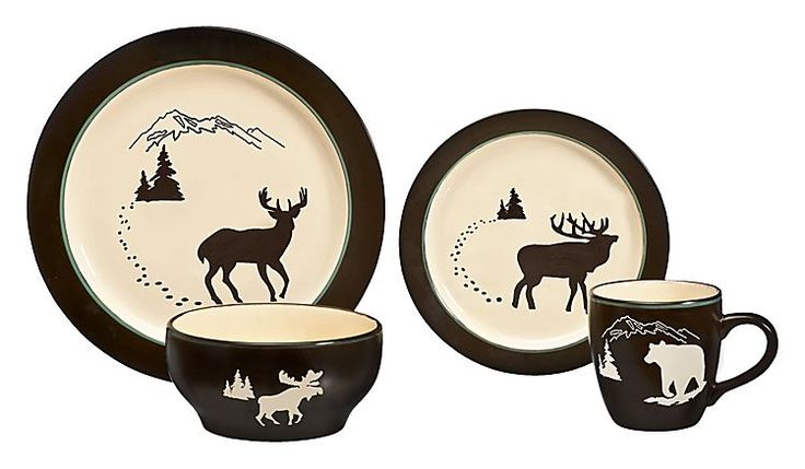 Deep Forest 16-Piece Dinnerware Set | Bass Pro Shops: The Best Hunting, Fishing, Camping & Outdoor Gear