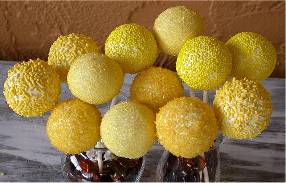 Lemon sunshine cake pops