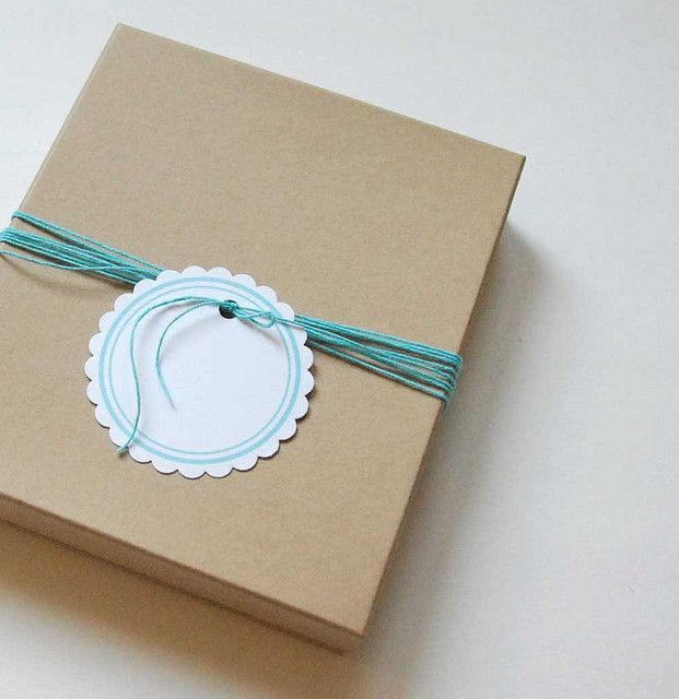 packaging - kraft box robins egg blue by maythird, via Flickr