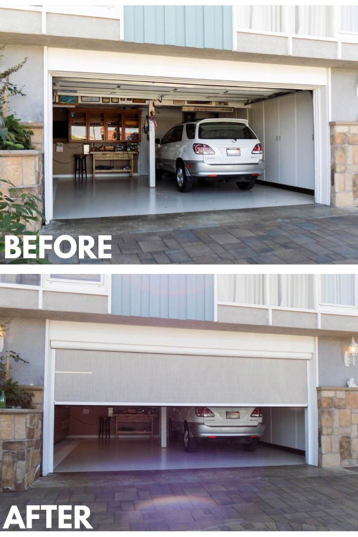 A Garage That Needs Ventilation And Privacy At The Same Time Is A Garage That Needs A Motorized Power S Garage Doors Garage Screen Door Traditional Style Homes