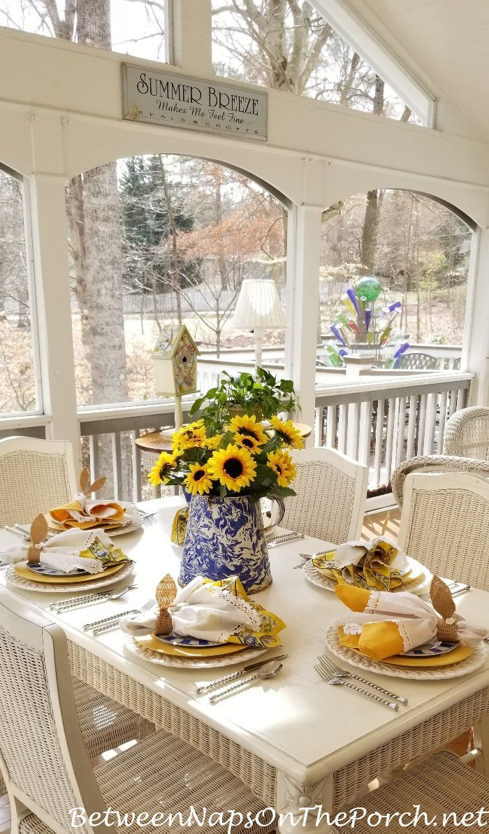 A Sunny Blue Yellow Table Inspired By A Spring Like February
