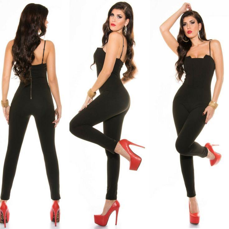 Sexy tuta intera nera  Sexy tuta intera nera con la vestibilità aderente    Taglia m/l  https://www.lorcastyle.it
