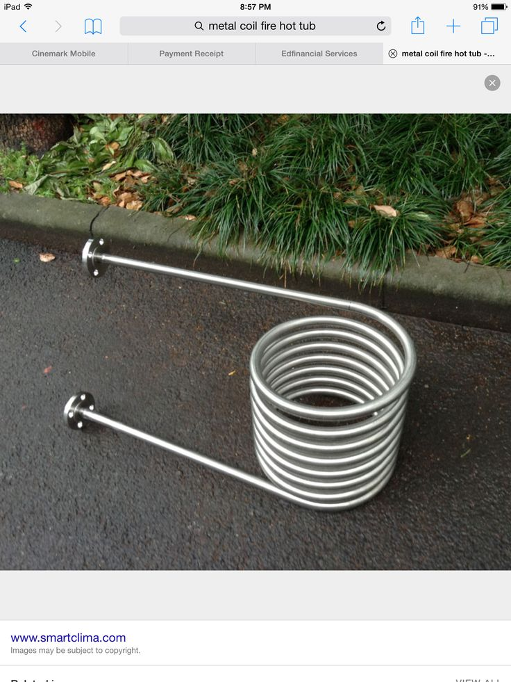 water heating coil for hot tub