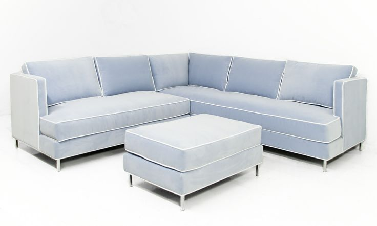 Down w/ Love Sectional in Trend Cloud Velvet by ModShop | May I have a seat | Pinterest ...