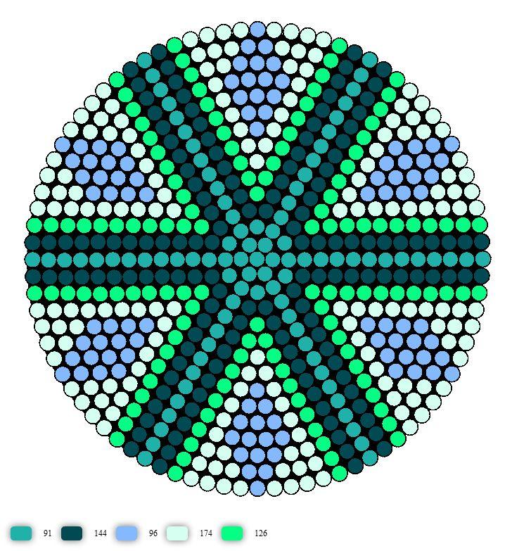 perler bead coaster pattern