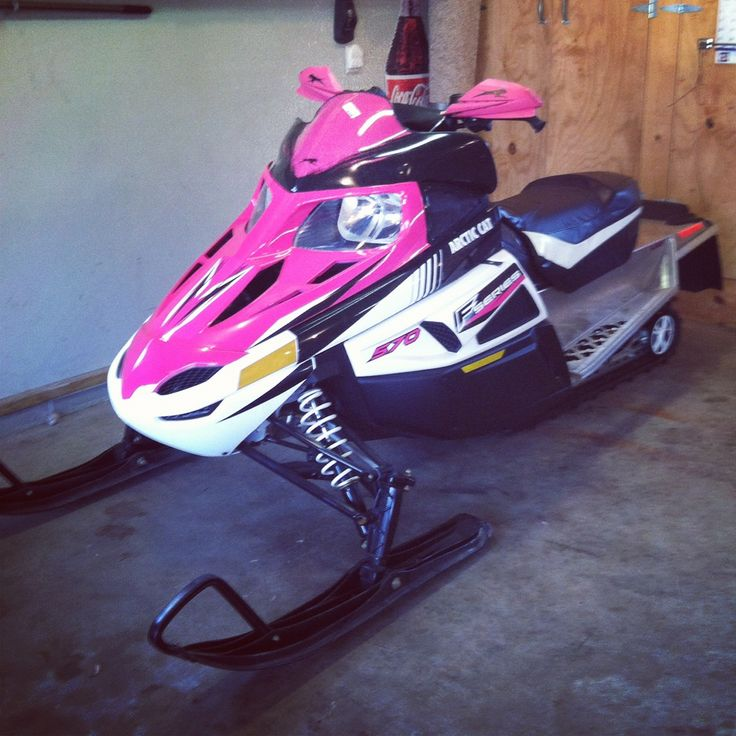 pink snowmobile