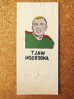 1960 Topps FB Tattoo Bill Anderson Washington Redskins University Tennessee RARE
