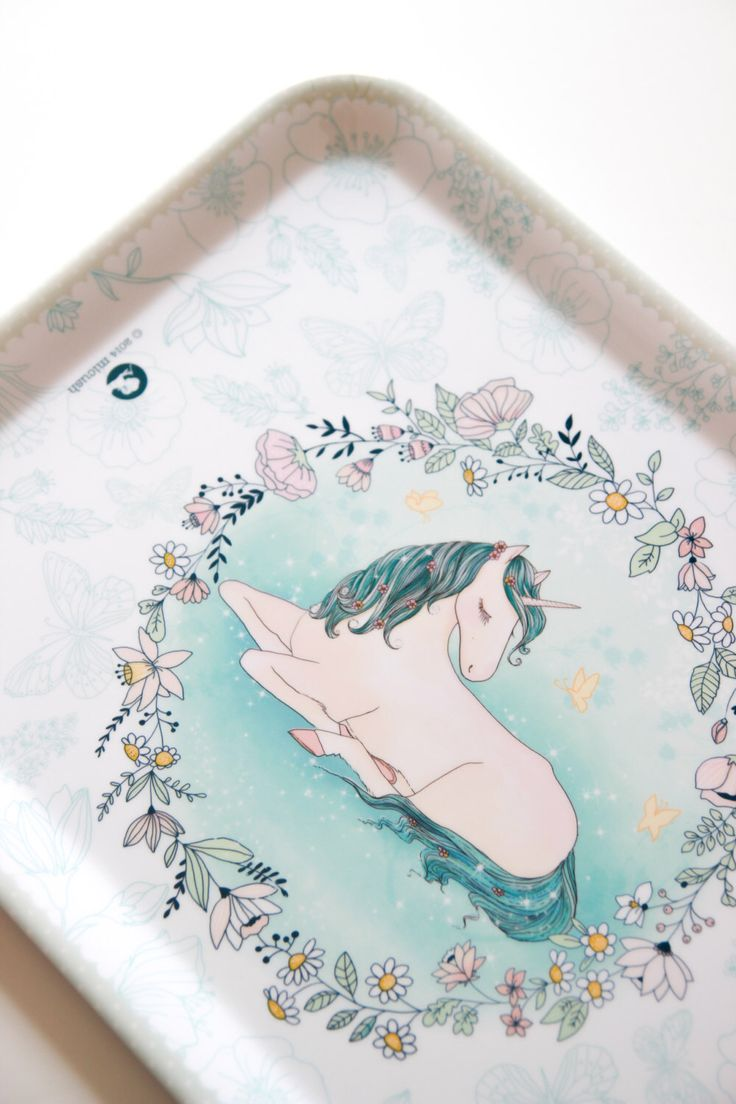 Large Decorative Melamine Tray - Unicorn by Micush on Etsy https://www.etsy.com/listing/223289633/large-decorative-melamine-tray-unicorn