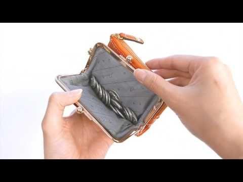 Dakota ダコタ 財布 アプローズ がま口二つ折り財布 0035180 - YouTube
