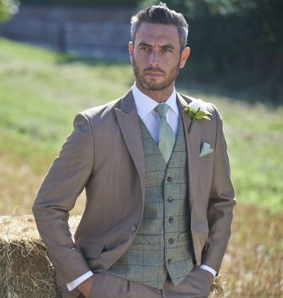 Ryan S Suit And Tie Will Be Similar To This Olive Green Tweed Waistcoat 237