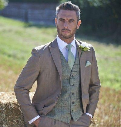 Olive Green Tweed Waistcoat