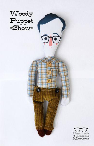 Hello Woody by Eudeline    poupée Woody Allen 100% handmade , avec mes 10 doigts, 35cm