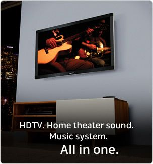 The VideoWave II entertainment system is the only HDTV with a complete Bose home theater and music system built inside
