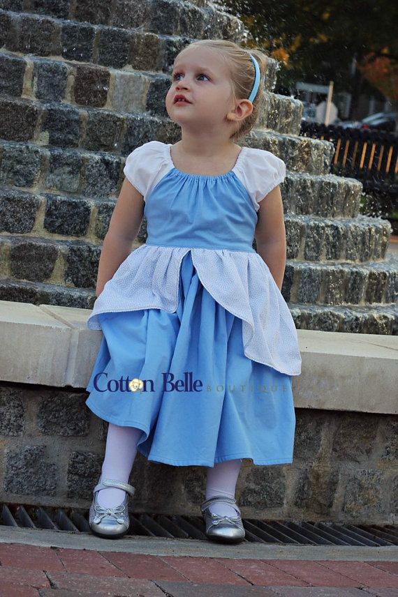 Fantastic everyday Cinderella dress from Cotton Belle Boutique on etsy. Easy to hand- or machine-wash, dried really quickly without wrinkles. Perfect for a Disney trip. Love it.