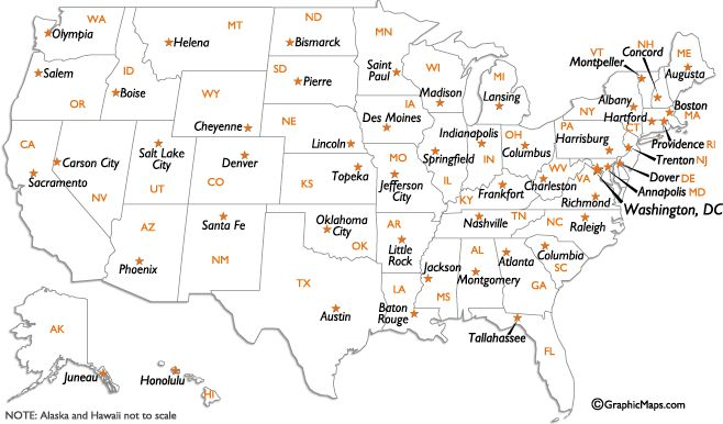 united states capitals list usa map states and capitals list usa map states and capitals list find this pin and more on maps