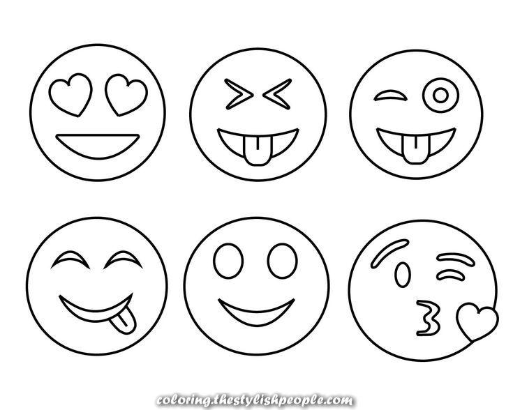 Free Printable Coronary Heart And Eye Cool And Easy Emoji