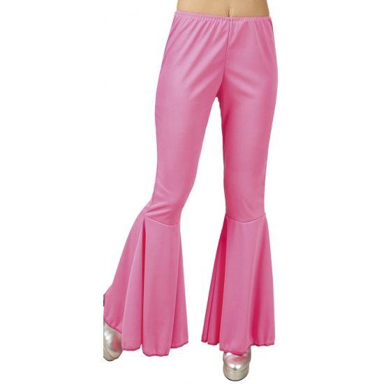 Disco broek roze voor dames