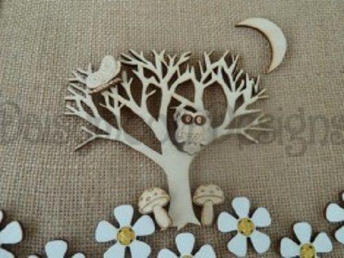 Laser Cut Birch Blank Tree and Owl Craft Decoration    eBay