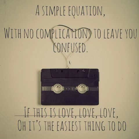 Love is easy, one of my favourite songs! Mcfly ❤