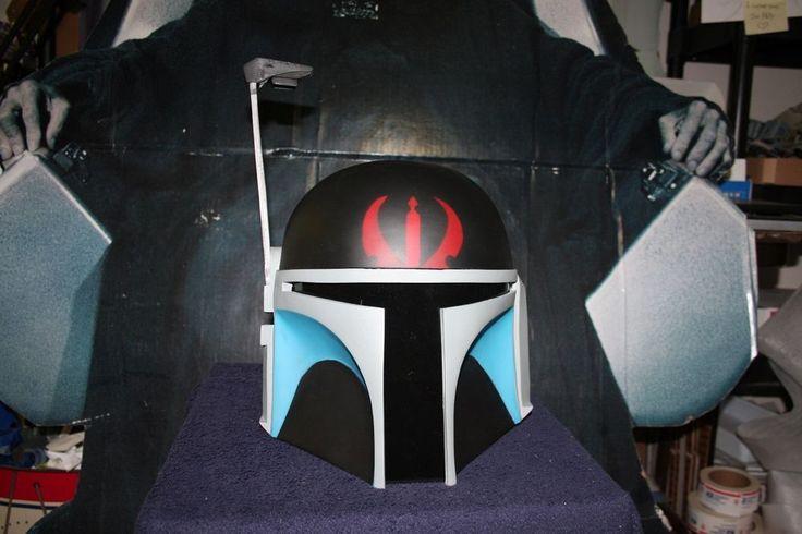 Star Wars Mandalorian DEATH WATCH WARRIOR Pre-Vizsla Mando Helmet Prop Cosplay