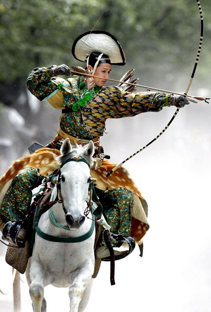 'Yabusame' mounted archery, an old warrior tradition in Japan