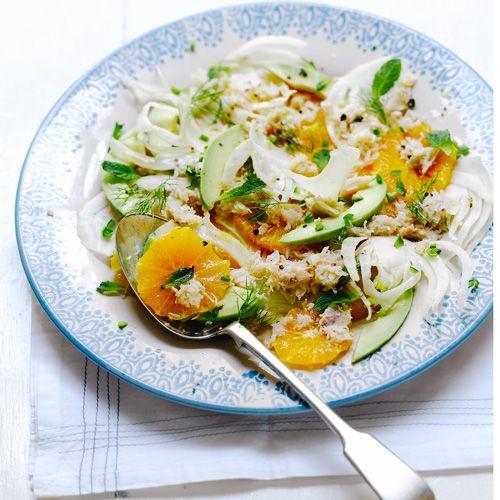 Venkel-krab-sinaasappelsalade - Jamie magazine