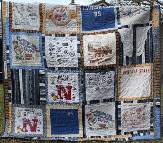 CUSTOM MADE School T shirt Quilt great by HappyQuiltDesigns, $195.00