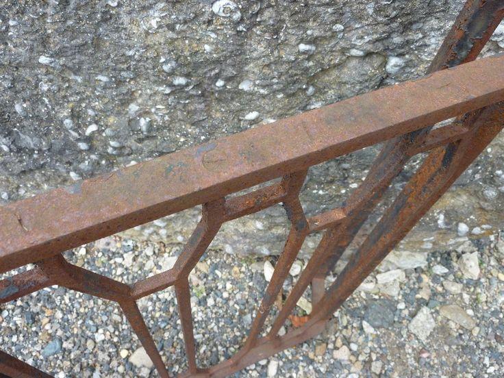 BALCON, GARDE-CORPS ANCIEN EN FER FORGE - ART DECO - XXe S. - PF-761