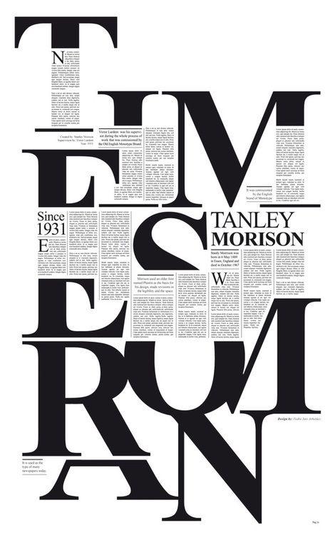 times new roman bypedro javier arbelaez | Tribute toStanley Morrison http://www.behance.net/gallery/Times-New-Roman/5367119  #typography #design #newspaper