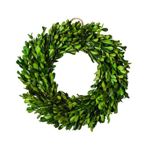 boxwood wreath $20 http://www.target.com/p/boxwood-wreath-11-smith-hawken/-/A-14702387