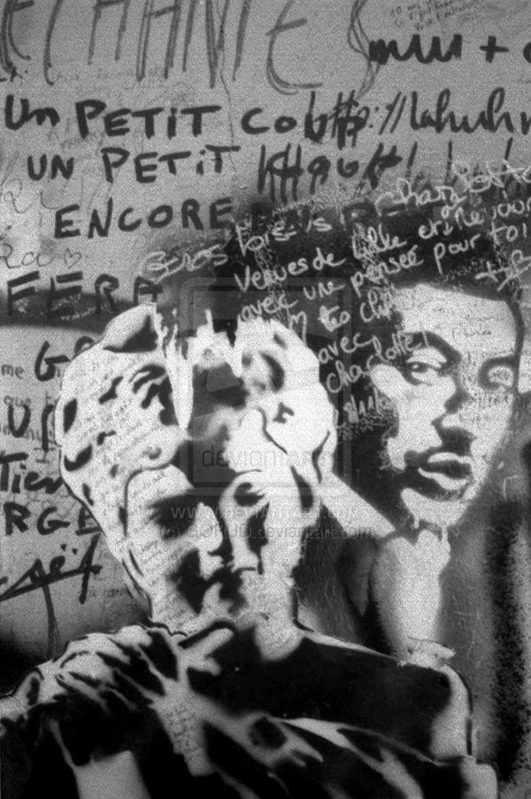 Gainsbourg Graffiti 2 by GORUD.deviantart.com on @deviantART #Photography #BW #Art #Portrait  #Gainsbourg