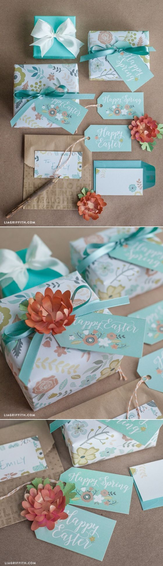 229 best beautiful gift tags images on pinterest birthday favors printable gift wrap and tags for spring easter negle Gallery